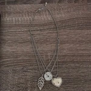 Guess necklace with three charms
